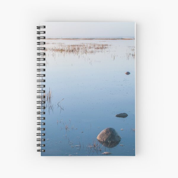 Shallow waters and no wind on a quiet day Spiral Notebook