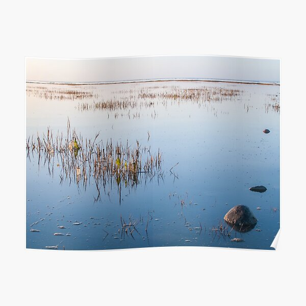 Shallow waters and no wind on a quiet day Poster