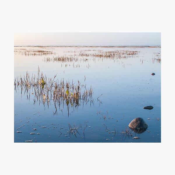 Shallow waters and no wind on a quiet day Photographic Print
