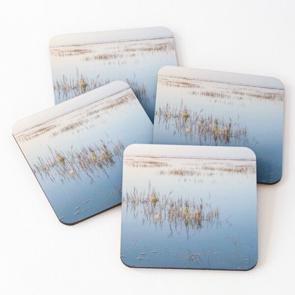 Shallow waters and no wind on a quiet day Coasters (Set of 4)
