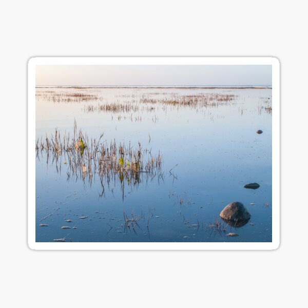 Shallow waters and no wind on a quiet day Sticker