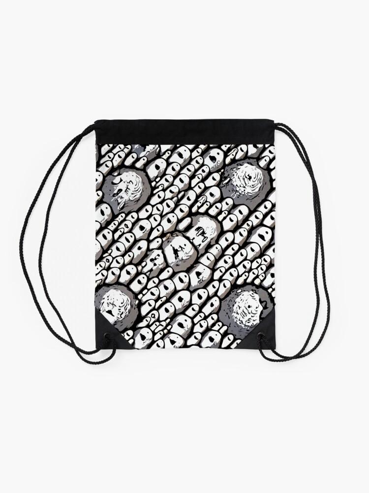 Alternate view of Abstract Shapes Drawstring Bag