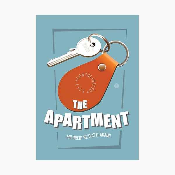The Apartment - Alternative Movie Poster Photographic Print