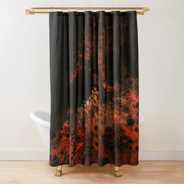 Acrylic Dutch pouring fire project Shower Curtain