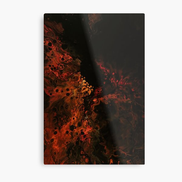 Acrylic Dutch pouring fire project Metal Print