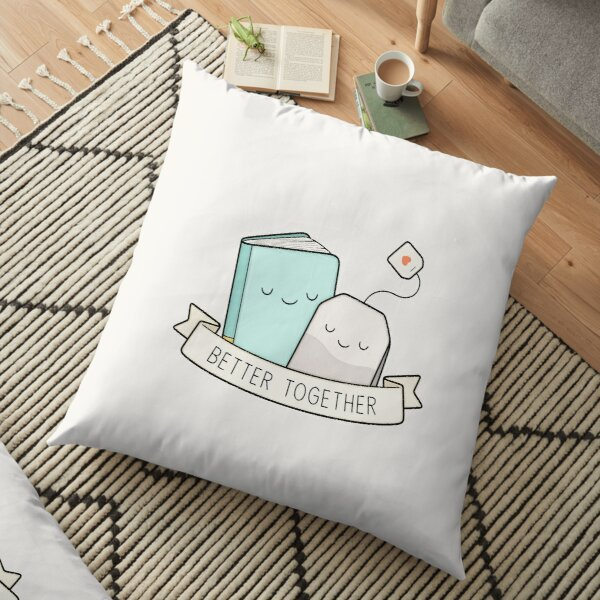 Books And Tea | Better Together Floor Pillow