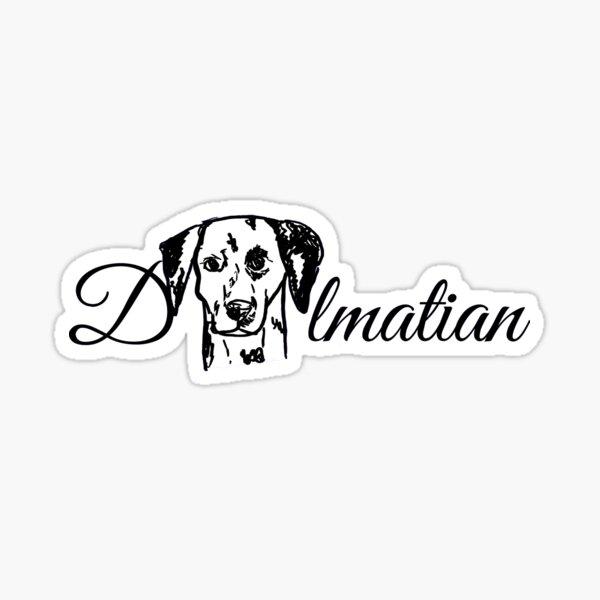 Dalmatian text design Sticker
