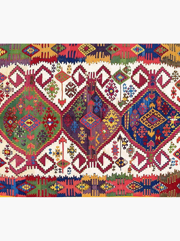 Adana Kilim South East Anatolia Antique Tribal Rug  Print by bragova