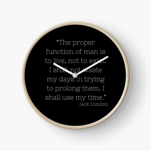 Función adecuada del hombre Jack London Quote Black Reloj