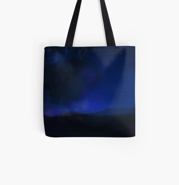 night on the fields Allover-Print Tote Bag