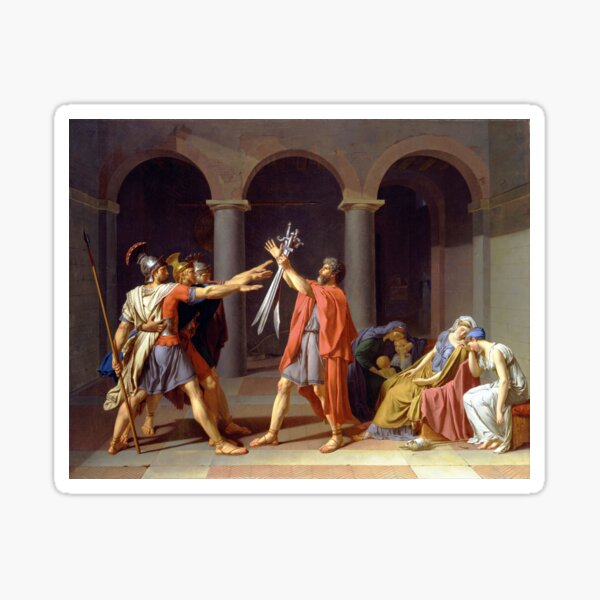 Oath of the Horatii by Jacques-Louis David (1784) Sticker