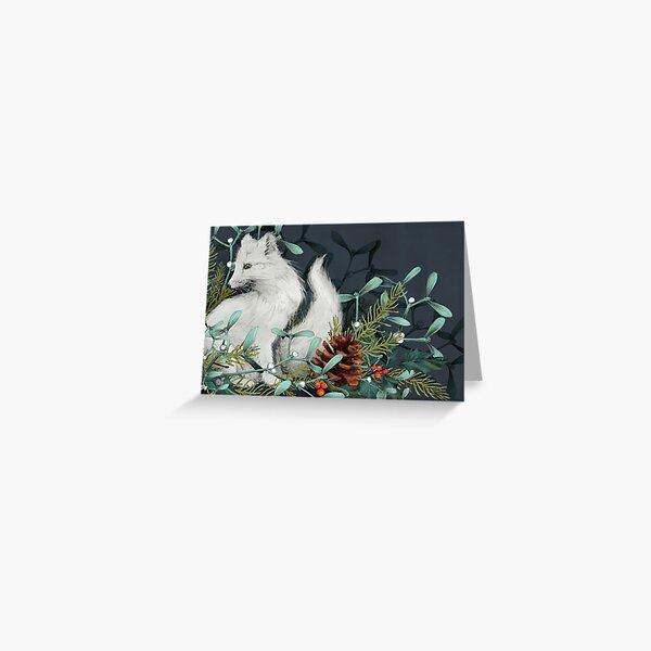 Arctic Fox Holiday Portrait Greeting Card