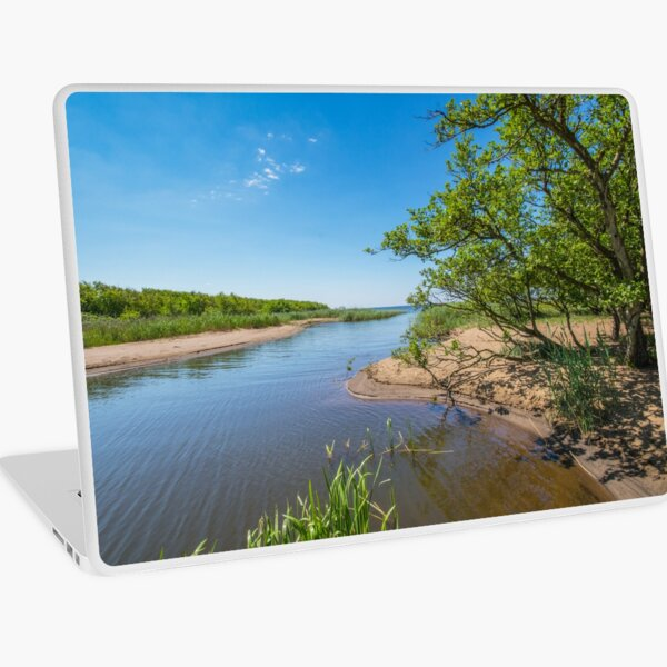 River running to the ocean Laptop Skin