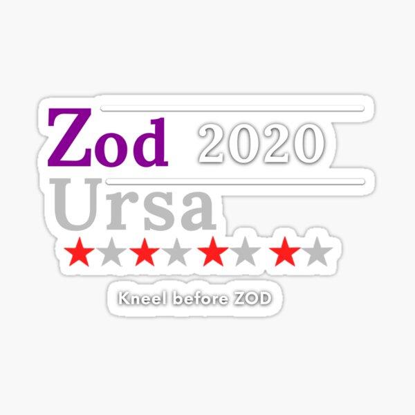 General Zod of President 2020, Satire Sticker