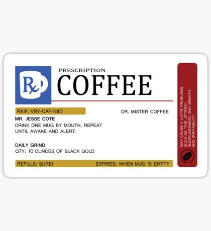Prescription Coffee Mug Sticker