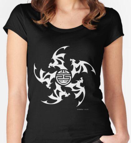 Wu Fu Bats II (Five Lucky Bats) Women's Fitted Scoop T-Shirt