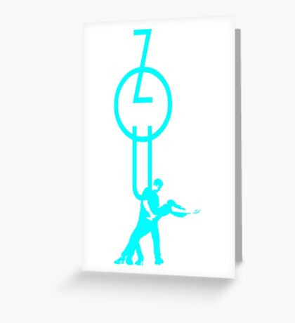 lets dance zouk - blue Greeting Card