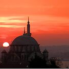 Atik Valide Sultan Mosque at Sunset by Zoe Marlowe