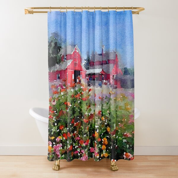 On the farm... Shower Curtain by Douglas E. Welch