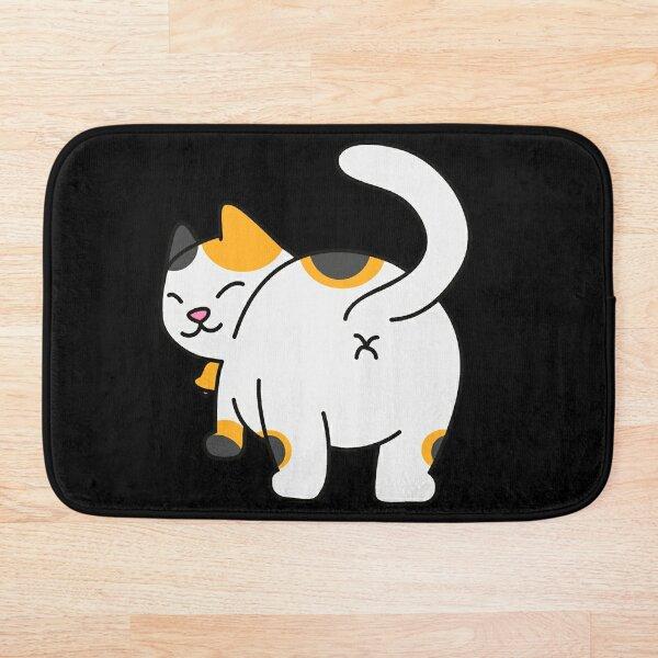 Funny Kitty Butthole design Bath Mat