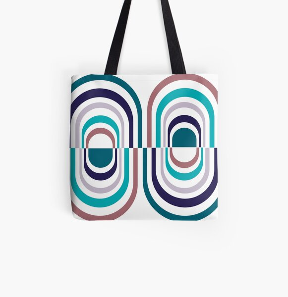 Striped Pill All Over Print Tote Bag