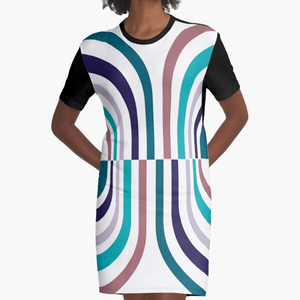 Striped Pill Graphic T-Shirt Dress