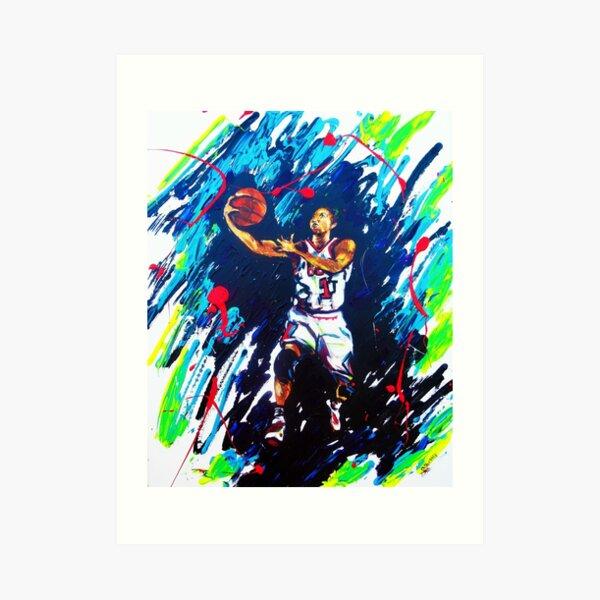 Derricks Rose Chicago Bulls Art Print