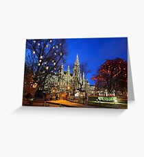 Christmas postcard from Vienna Greeting Card