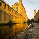 Salt's Mill at Dawn, Saltaire, Yorkshire by strangelight