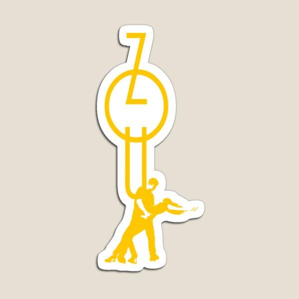 lets dance zouk - yellow Magnet