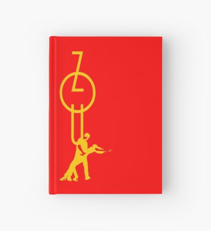 lets dance zouk - yellow Hardcover Journal