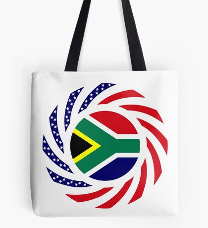 South African American Multinational Patriot Flag Series Tote Bag