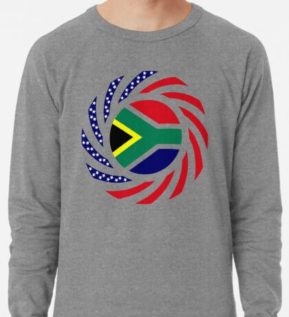 South African American Multinational Patriot Flag Series Lightweight Sweatshirt