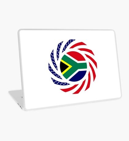 South African American Multinational Patriot Flag Series Laptop Skin