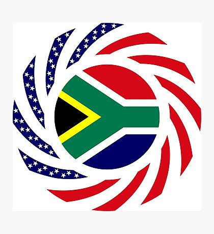 South African American Multinational Patriot Flag Series Photographic Print