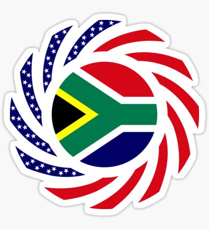 South African American Multinational Patriot Flag Series Sticker