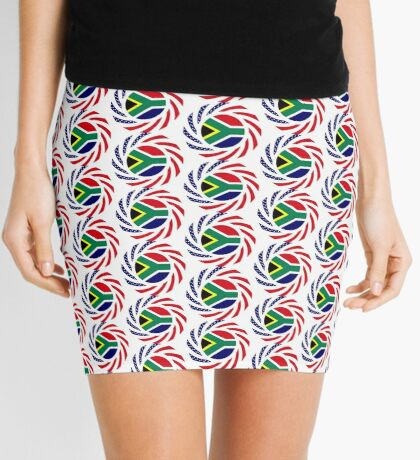 South African American Multinational Patriot Flag Series Mini Skirt
