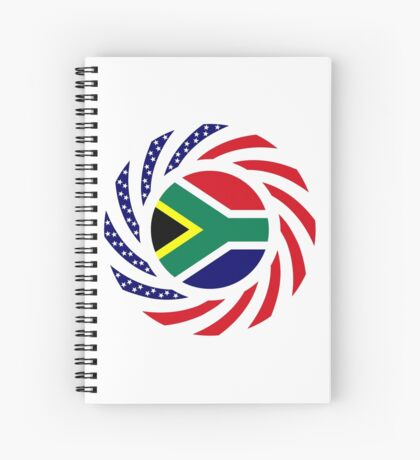 South African American Multinational Patriot Flag Series Spiral Notebook