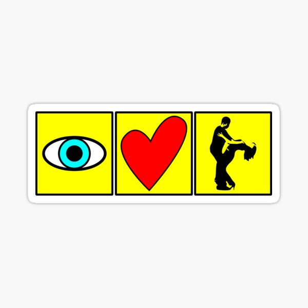 i love dance - pictogram Sticker
