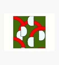 Earmuff pattern 02 Art Print