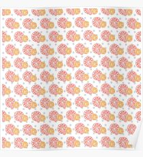 Grapefruit Print Design Poster
