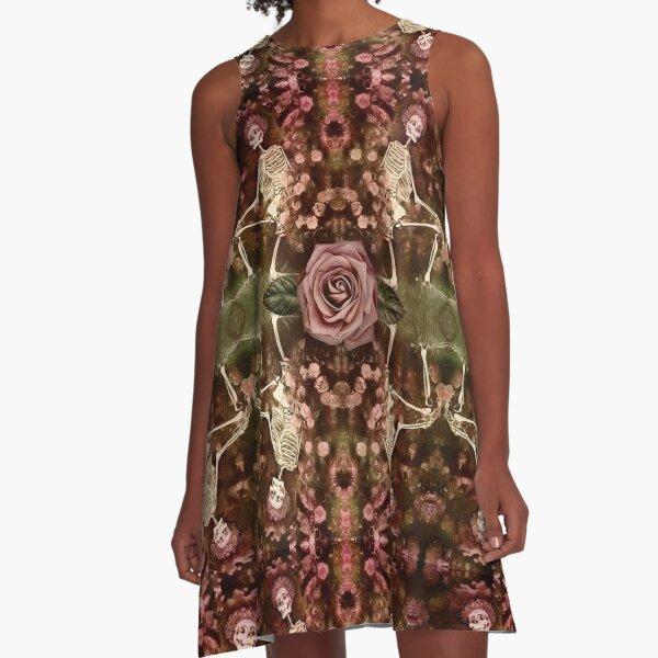 Vintage Rose  A-Line Dress