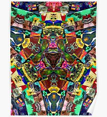 Abstract of Abundant Colors Poster