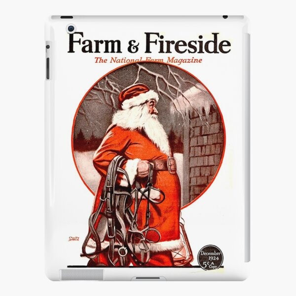 Vintage Santa Farm & Fireside Magazine Cover (1924) iPad Snap Case