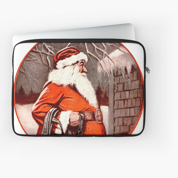 Vintage Santa Farm & Fireside Magazine Cover (1924) Laptop Sleeve