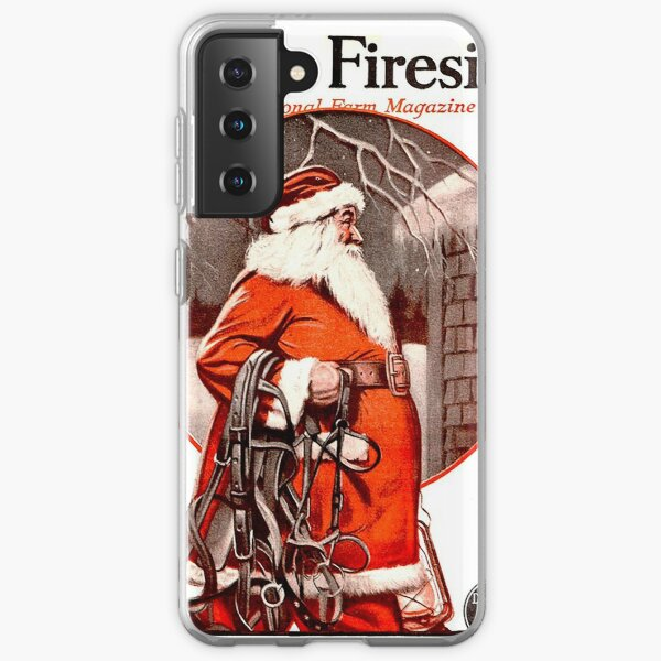 Vintage Santa Farm & Fireside Magazine Cover (1924) Samsung Galaxy Soft Case