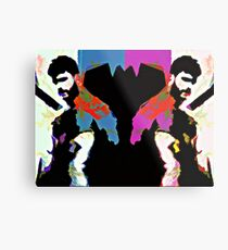 Bearded Poppy Duo #1 Metal Print