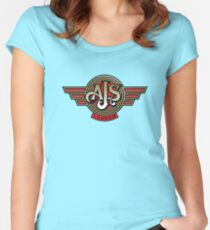 Classic British Motorcycle - AJS Women's Fitted Scoop T-Shirt