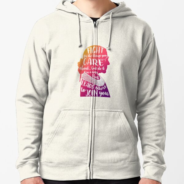 RBG quote silhouette Zipped Hoodie