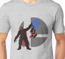 Ganondorf Clutching Sonic - Sunset Shores Unisex T-Shirt